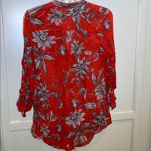 Anthropologie Tops - Leifsdottir Anthropologie 100% silk pleated blouse